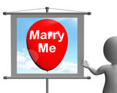 Marry Me Sign Represents Lovers Proposed Engagement — Stock Photo