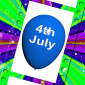 Fourth of July Balloon Shows Independence Spirit and Promotion — Stock Photo