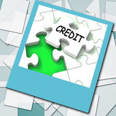 Credit Photo Means Loans Financing  Or Borrowed Money — Stock Photo