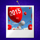 Two Thousand Fifteen on Balloons Photo Shows Year 2015 — Foto de Stock