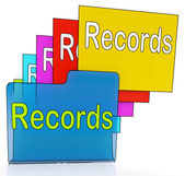 Records Folders Shows Files Reports Or Evidence — Stock Photo