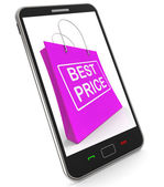 Best Price On Shopping Bags Shows Bargains Sale And Save — Stock Photo