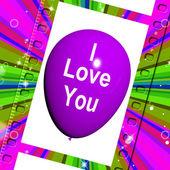 I Love You Balloon Represents Love and Couples — Foto de Stock