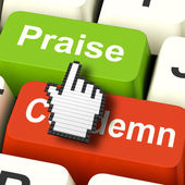 Appreciate Praise Computer Means Appreciating or Great — Stock Photo
