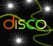 Groovy Disco Means Dancing Partying And Music — Stock Photo