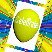 Celebrate Balloon Means Events Parties and Celebration — Stok fotoğraf