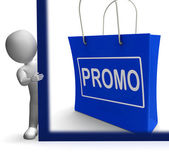 Promo Shopping Sign Shows Discount Reduction Or Save — Stock Photo