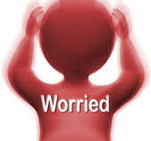 Worried Man Means Anxious Fearful Or Concerned — Stock Photo