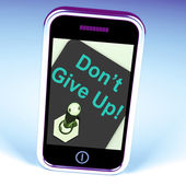 Don't Give Up Switch Shows Determination Persist And Persevere — Stock Photo