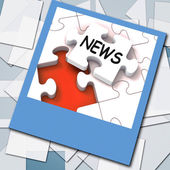 News Photo Means Online Updates And Headlines — Stock Photo