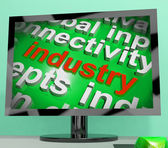 Industry Word Cloud Shows Industrial Workplace Or Manufacturing — Stock Photo