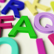 Letters Spelling FAQ As Symbol for Questions And Answers — Stock Photo #8052321