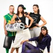 Group of young people in hip hop outfits — Stock Photo #30905019