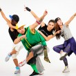 Group of young people in hip hop outfits — Stock Photo #30908769