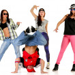 Group of young people in hip hop outfits — Stock Photo #30909505