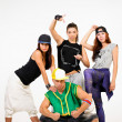 Group of young people in hip hop outfits — Stock Photo #30914945