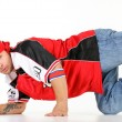 Male hip hop dancer performing different steps — Stock Photo