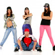 Group of young people in hip hop outfits — Stock Photo #30919773
