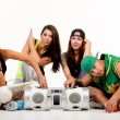 Group of young people in hip hop outfits — Stock Photo #30920357
