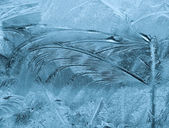 Frosty pattern on pane — Stock Photo