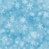 Seamless blue background with snowflakes — Stock Photo