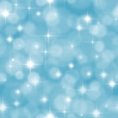 Seamless blue background with boke effect and stars — Stock Photo