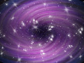 Violet cosmic whirl background with stars — Стоковое фото