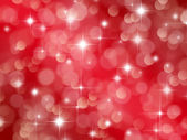 Abstract red background with boke effect and stars — Stock Photo