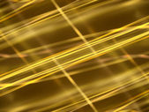Abstract black background with gold luminous lines — Stock Photo