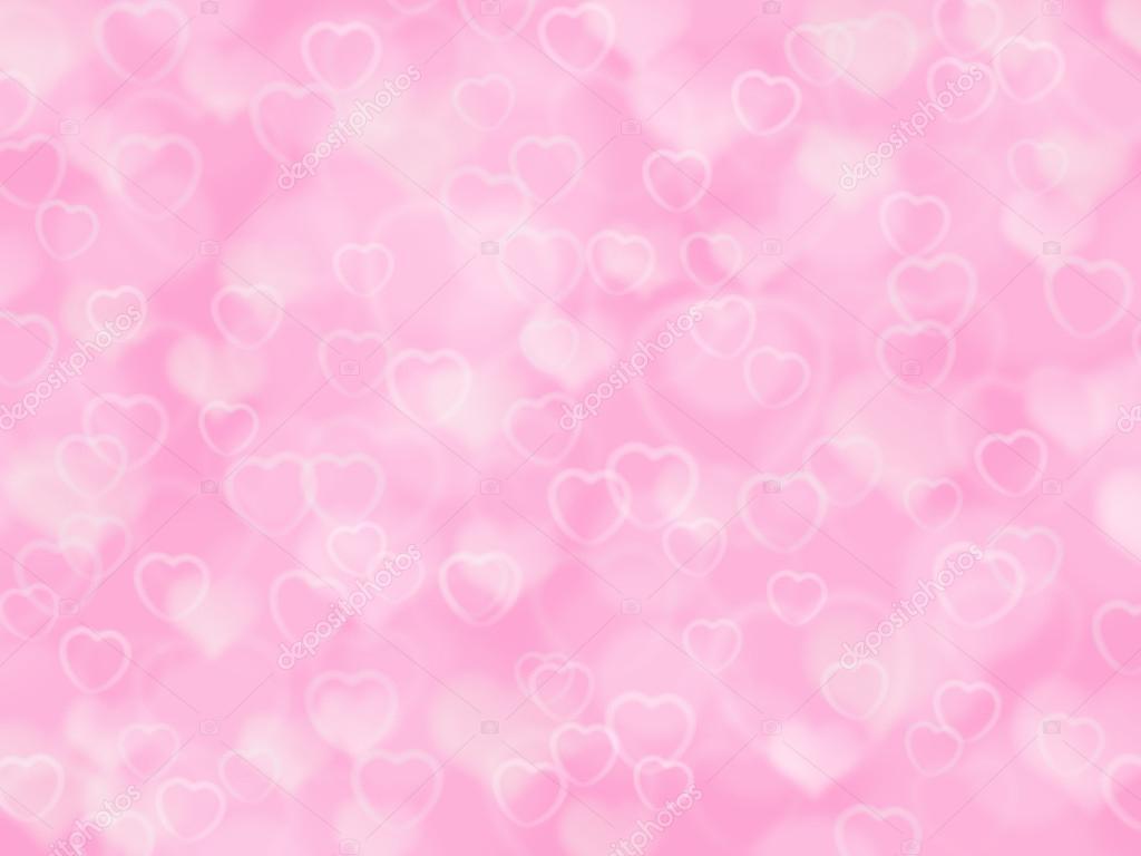 Fundo rosa dos namorados com corações e boke — Fotografias ...