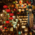 Turkish lamps — Stock Photo