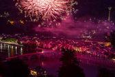 Firework in Heidelberg — Stock Photo