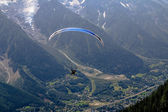 Paraglider above alps — Stock Photo
