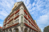 Colorful historic munich building — Stock Photo