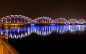 Railway bridge, Riga — Stock Photo
