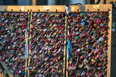 Lockers at Pont des Arts — Stock Photo