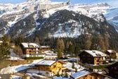 Alpská vesnice — Stock fotografie