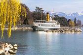 Crociera in barca sul lago di Ginevra — Foto Stock
