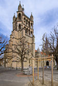 Cathedral in Lausanne — Stock Photo