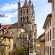Ancient cathedral in Lausanne — Stock Photo #45492807