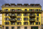 Apartment building in Lausanne — Stock Photo