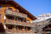 Alpine wooden hotel — Stock Photo