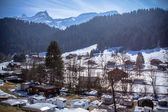 Alpine village, Switzerland — Stock Photo