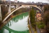 The railway bridge — Stock Photo