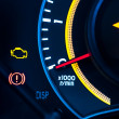 Car speed meter closeup - Photo