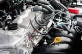 Closeup photo of a clean motor block — Stock Photo