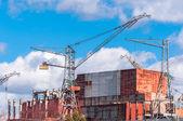 Big construction site — Stock Photo