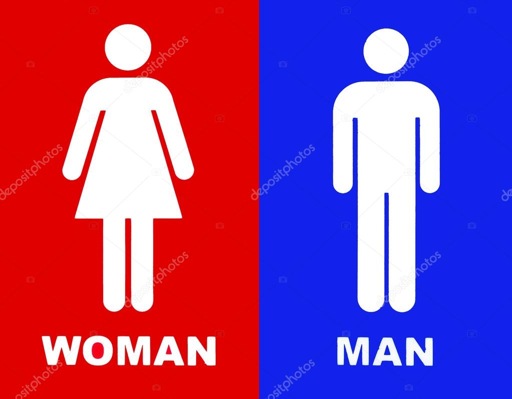 Toilet sign in red and blue — Stock Photo © svedoliver ...