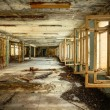 Abandoned Corridor in Chernobyl - Stock Photo