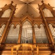 Beautiful organ with a lot of pipes — Stock Photo